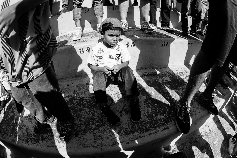 Fotos das torcidas em Santos x Bahia